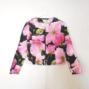 Joseph Ribkoff Zip Floral blooms Blazer jacket